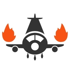 Airplane Engines Burn Icon vector