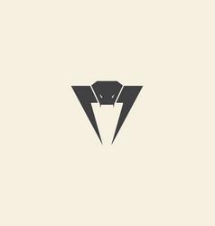 Animal head snack cobra logo icon symbol design vector