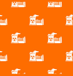 Atomic reactor pattern orange vector