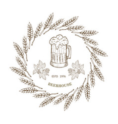 Beer and brewery emblems vector