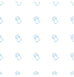 Bell icon pattern seamless white background vector