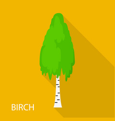 Birch icon flat style vector