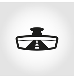 Black rear view icon vector