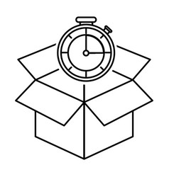 box and chronometer design vector image