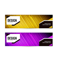 bright banner with strips on dark background set vector image
