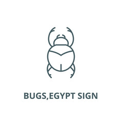 bugsegypt sign line icon bugsegypt sign vector image