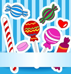 Candy wish or invitation card vector image