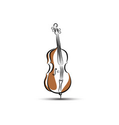 Cello isolated on white background vector