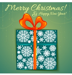 Christmas card with gift eps10 vector image vector image