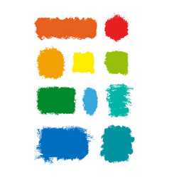 colorful ink stains vector image