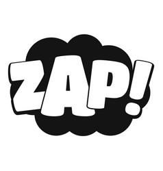 Comic boom zap icon simple black style vector