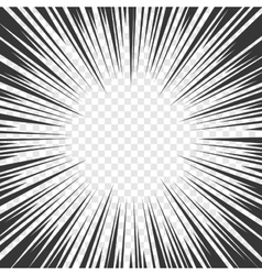 Comics Radial Speed Lines graphic effects on vector