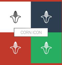 Corn icon white background vector