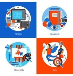 Creative Design Concept Icons Set vector image