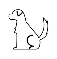 cute dog mascot silhouette icon vector image