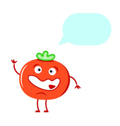 cute tomato thinking vector image
