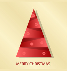 Decorated christmas tree with decoration balls vector