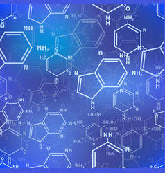 different chemical nucleobases structures on blue vector image