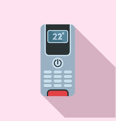 Digital climate remote control icon flat style vector