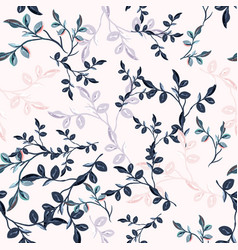 elegant vintage seamless floral pattern vector image