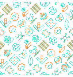 fabric feature seamless pattern vector image