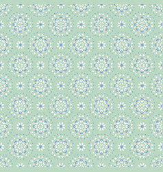 flower pastel daisies pattern seamless blue vector image