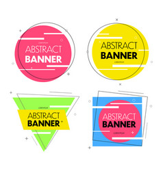 geometric banners promo labels vector image
