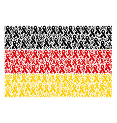 germany flag mosaic of mourning ribbon icons vector image