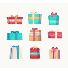 Gift set Christmas card poster banner vector