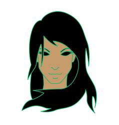 Girl as virgo vector