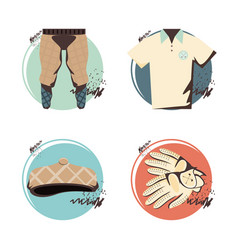 golf uniform set clothes vector image