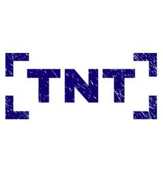 Grunge textured tnt stamp seal inside corners vector