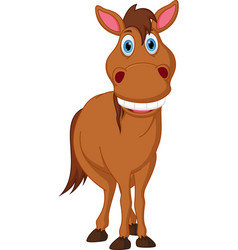 Happy horse cartoon vector