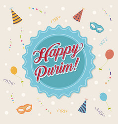 happy purim vector image