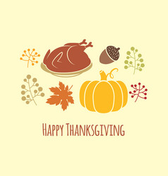 Happy thanksgiving autumn background vector