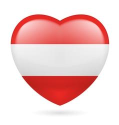 Heart icon of austria vector