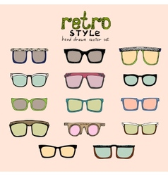 hipster retro glasses vector image