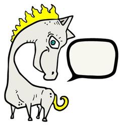 horse comic vector image