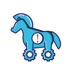 horse of virus trojan isolated icon vector image