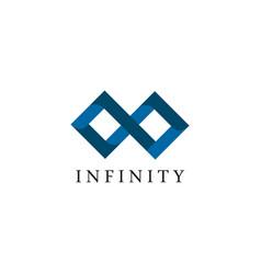 Infinity logo design template vector