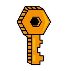 key door lock image vector image