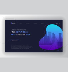 landing page template for business vector image