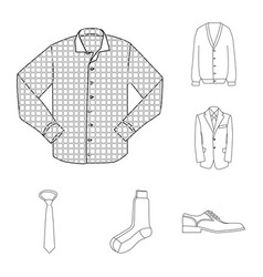 man and clothing icon vector image