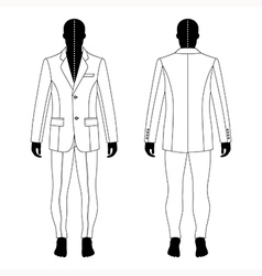 Mans black silhouette figure vector