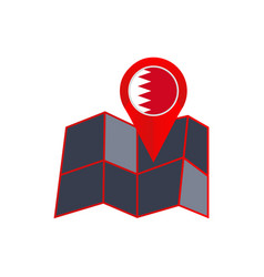Map bahrain is insulated with state flags vector