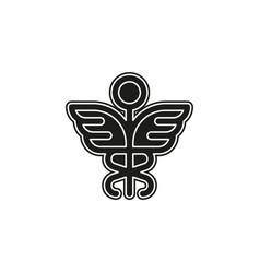 medical symbol - caduceus icon - health sign vector image