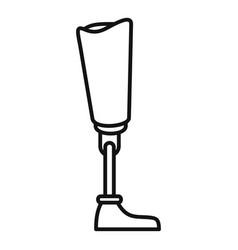 Medicine artificial limbs icon outline style vector