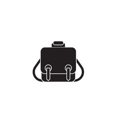 Messenger bag black concept icon messenger vector