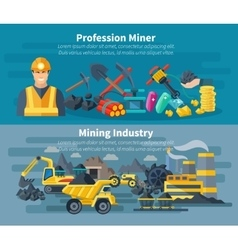 Mining Banner Set vector image