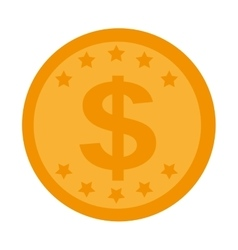 money economy coin icon vector image